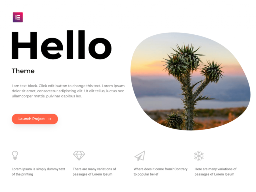 heiio elementor - wordpress theme
